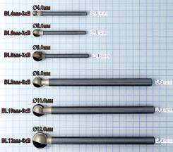 Шаровые фрезы для ЧПУ (сферические, круглые, радиусные) Модели: BL4мм-3xB, BL6мм-3xB, BL8мм-3xB, BL8мм-6xB, BL10мм-6xB, BL12мм-6xB