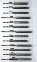 Торцевые фрезы для ЧПУ концевые 1мм, 2мм, 3мм, 4мм, 6мм, фреза по металлу, HSS, скоростная сталь