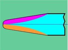 Чертеж фрезы для ЧПУ 3D конусный радиус (радиусная), модель TR6.35/2/1.6